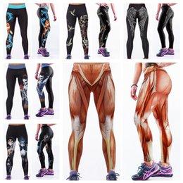Wholesale Fashion Elastic Capris Europe High Waist Long Trousers D Print Leggings Quick Drying Fitness Yoga Pants Body Sculpting Goldfish LNASlgs