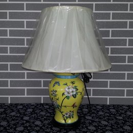 Wholesale Antique Chinese Hand painted ceramic table lamp online shopping Porcelain Bedside Reading lamps