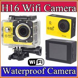 Wholesale Newest Action Camera WiFi P Full HD LCD HD m Waterproof DV video Sport extreme go pro mini cam recorder sport camera M XJ
