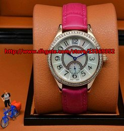 Comfortable and durable luxury fashion classic noble precise import quartz diamond independent running second fancy Leather Ladies Watch