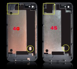 Wholesale Genuine New Replacement Pant Glass Back Housing Battery Cover for iPhone4g s Phone Housing with