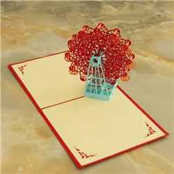 Wholesale 2016 stereo invitations creative handmade paper cut D Folding gift birthday cake greeting cards customized factory outlets