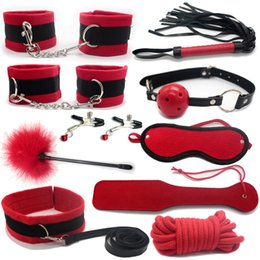 Wholesale 10PCS New Cotton hemp bdsm bondage Set Restraints Adult Games Sex Toys for Couples Woman Slave Game S MSexy Erotic Toys Handcuff