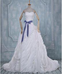 2016 Wedding Dresses Strapless Sweep Train Beautiful Wedding Gowns Bridal Wear Best Wave Details Vestidos de Novia A-Line Dresses