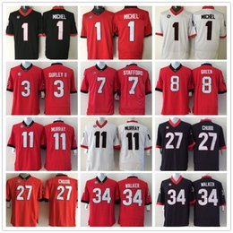 Wholesale Georgia Bulldogs Jersey Ncaa College Sony Michel Todd Gurley II Nick Chubb Matthew Stafford Aaron Murray Herschel Walker David Greene