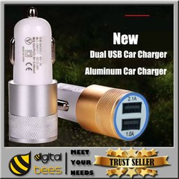 Wholesale Aluminum little Cannon Car Charger PortS Cigarette A Chargers Micro Dual USB Adapter Flash Nipple Dual USB Port for Phone Pad