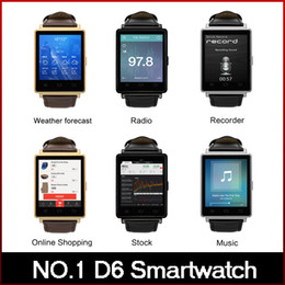 Wholesale NO D6 Smart Watch MTK6580 Android Smartwatch support what s app facebook Heart Rate Browser for Android freeshipping