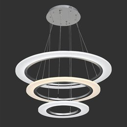 Wholesale LED Pendant Lights Modern Kitchen Acrylic Suspension Hanging Ceiling Lamp Dining Table Chandeliers Lighting for Home W FCC CE ROHS VALLKIN