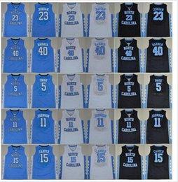 Wholesale 2016 College Vince Carter Jersey North Carolina Tar Heels Michael Harrison Barnes Marcus Paige Brice Johnson Blue White