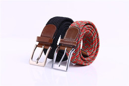 Free Shipping Miss Han Ban Stretch Woven Canvas belt Men Elastic Belt pin Buckle belt Universal Trouser Pockets