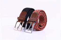 Free Shipping Miss Han Ban Stretch Woven Canvas belt Men Elastic Belt pin Buckle belt Universal Trouser Pockets