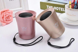 Wholesale iginal Wireless mp3 Bluetooth Speaker with Built in Microphone Mi Portable For iPhone Android Devices PC Computer