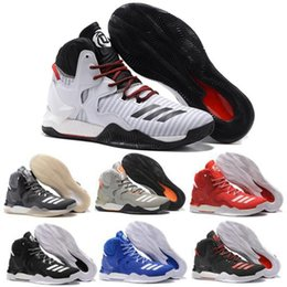 Wholesale 2016 Best price Men D Basketball Shoes Boots VII Red Christmas Sneakers Derrick Rose Sports Brand Sneaker Size