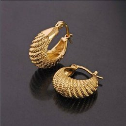 Smooth Band Round Textured print Hoop 18k Yellow Gold GF Small Earrings Solid