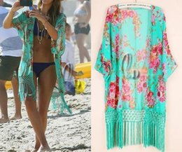 Wholesale 2016 Women Swimwear Beachwear floral Bikini Beach Wear Kaftan Cover Up Sarong Shirt Dress