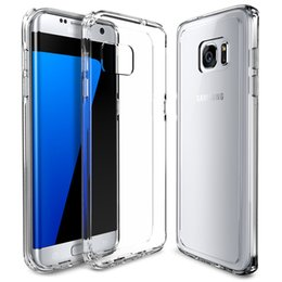 Protection téléphone cellulaire à vendre-Pour Samsung Galaxy S7 S7 Bord plus le cas de téléphone portable 0.3mm TPU Ultra Thin Slim en silicone souple en caoutchouc Clear film de protection couverture transparente
