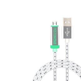 Wholesale 2016 Peston High Quality Aluminum Metal Data Micro Usb Cables Automatic Power Down USB Cable For samsung S7 edge Android