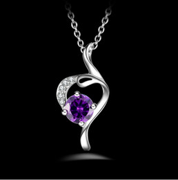High quality 925 silver Pendant Necklace angel with amethyst jewelry Pendant 925 silver necklace Valentine's Day holiday gifts