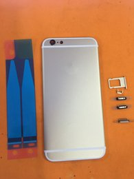 Wholesale Original iphone quot Gold meat alloy Back cover With Buttons Sim Tray Small Rails battery door drop