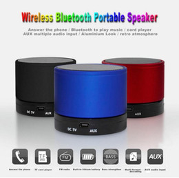 Wholesale S10 Bluetooth peaker Mini wireless Speaker Outdoor Music Player Support Micro Speaker TF Card Call for DHL