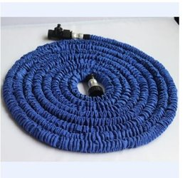 Wholesale Expandable Flexible Magic Hose Blue Water Garden Retractable Pipe with Spray Nozzle FT High Quality NEW Hoses