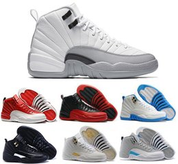 2016 high quality air retro 12 XII ovo white GS Barons Gym Red flu games french blue taxi playoffs man Basketball Shoes Sneakers