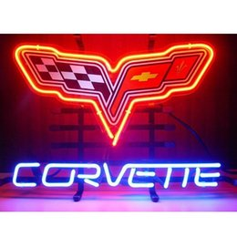Wholesale Brand New Chevrolet Corvette Graphic Glass Neon Sign New Full Color Chevy Corvette Collectible