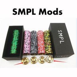 Colorful SMPL Mods E Cigarette Vape Mods Camo SMPL Mechanical Mods Fit M-atty RDA NarDA RDA Fast Shipping