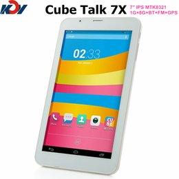 Wholesale Cube U51GT C4 Talk X MTK8321 Quad core tablet pc Android G G FM GPS Bluetooth inch IPS