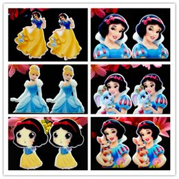 Wholesale 40pcs Princess Snow White Planar Resin Cabochons Flatback Flat Back Scrapbooking Hair Bow Center Frame Card Making