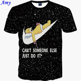 Wholesale New summer d t shirt English letters star anime universe ugly duckling digital printing men t shirt size S XXL