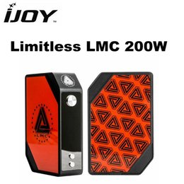 Wholesale Original Limitless LMC W Temperature Control Box Mod Fits With High Amp Battery Intuitive OLED Display