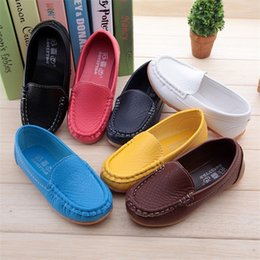New Arrival Children Shoes Spring Kids Sneakers Candy Color Cute Boys&Girls Flats With Soft Leather Shoes Girl Baby Shoes