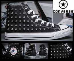 Wholesale 2016 Original CHUCK TAYLOR ALL STAR Shoes For Men Women Running Sneakers High Top Skate Fivet Boots Size Black Fashion