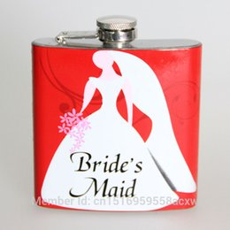 Wholesale The bride bridesmaid best gift oz stainless steel hip flask mini pocket wine liquor whisky alcohol bottles