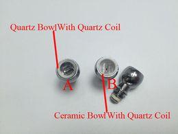 Wholesale NEW Dual Quartz Rod Coil Quartz Bowl Ceramic Bowl Wax Coil Replacement Coil Head for Glass Globe Atomizer Straight Tube bulb Atomizier