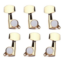 Touches du tuner acoustique à vendre-3L3R Gold Guitar String Tuning Pegs Tuners Machine Head Keys Fit for Acoustic Guitar