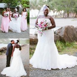 2016 New Sweetheart Lace Mermaid Wedding Dresses With Appliques Organza Floor-Length Plus Size Sexy Bridal Gowns Vestido De Novia W39