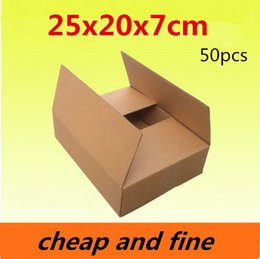 25x20x7cm 50pcs High quality wholesale kraft paper boxes  Thicken three floor fluting kraft packaging gift,cosmetics gaines