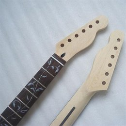 Wholesale 22 Frets The Tree of Life maple Electric Guitar Neck no paint Guitar Parts musical instruments accessories
