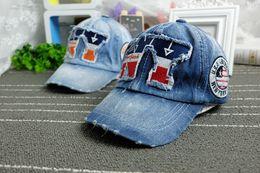 Wholesale 2016 New York Kids Cotton Caps Boys Baseball Caps Summer Jean Hats Children Caps Girls Baseball cap Ages Baby Hat adjustable
