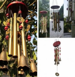 Wholesale Amazing Tubes Bells Bronze Yard Garden Outdoor Living Wind Chimes Placed there are special landscape
