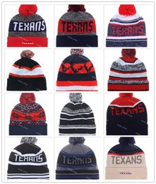Wholesale 14 Colors Houston Beanies Winter High Quality Beanie For Men On Field Texans American Football beanie Sports Caps Allow Mix Order