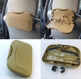 Wholesale HHA85 Universal Car Seat Multi Tray mount Food table meal Desk Stand Drink Cup Holder Car back seat folding tray