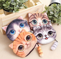 New Cute Cat Face Zipper Case Coin Purse female Wallet   child purse Makeup Buggy Bag Pouch HJIA526