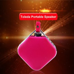 Wholesale 2016 best support tf card bluetooth speaker bicycle camipng bluetooth speaker box keychain AUX hand free call free ship