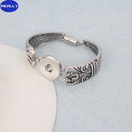 REALLY NOOSA Chunks Snap Button Bracelet Jewelry With Antique Silver Plated and Magnetic Clasps Free Shipping