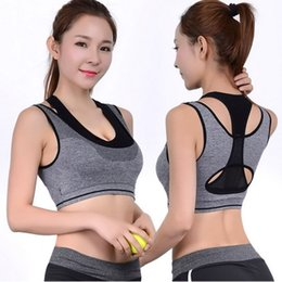 Wholesale Double Layler Seamless Push Up Padded Wirefree Professional Running Vest High Impact Racerback Double Layler Yoga Sports Bra
