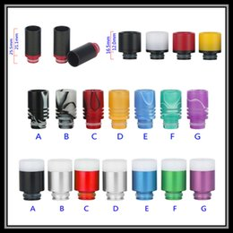 Wholesale Colorful PTFE Spraying Drip Tips SS Wide Bore Mouthpiece with Heat Insulation Smooth Surface Aluminum Acrylic Drip Tips for eGo Atomizer