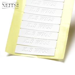 2017 cintas de la peluca del pelo Neitsi 1pc (los 4cm * 0.8cm) los pequeños pedazos 60pieces impermeabilizan las herramientas fuertes echadas a un lado echadas a un lado del pelo K.S pelucas la cinta de la trama de la piel cintas de la peluca del pelo baratos